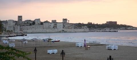 Sunset over Korikos Castle.