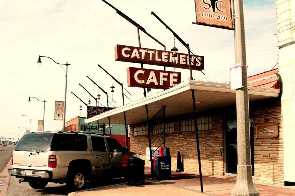 Exterior of Cattlemens Restaurant