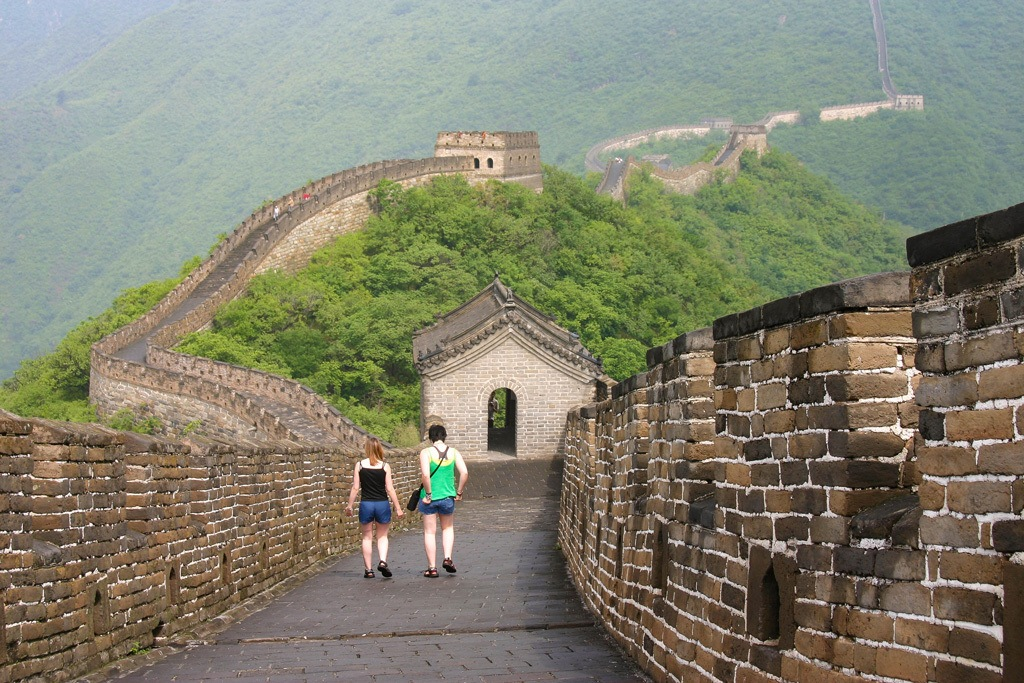Walking the Great Wall of China in Summer