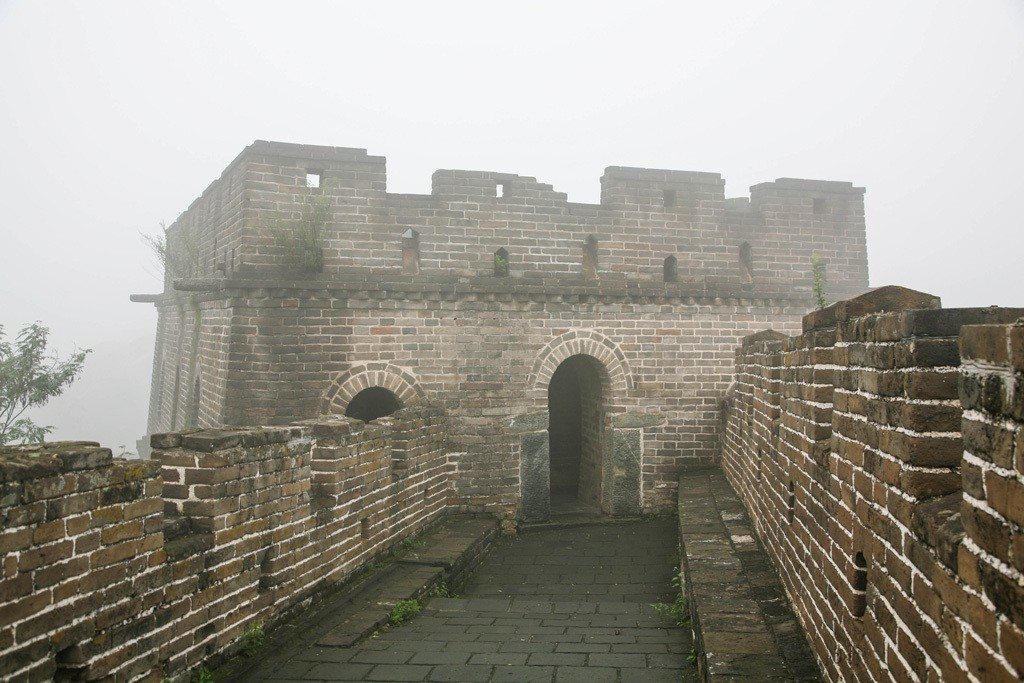 Austere and Silent sits the sentry of the Great Wall of China in winter