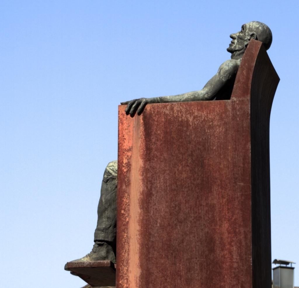 Relaxing Man Statue Vaduz Lichtenstein
