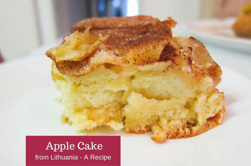 Lithuanian Apple Cake Slice