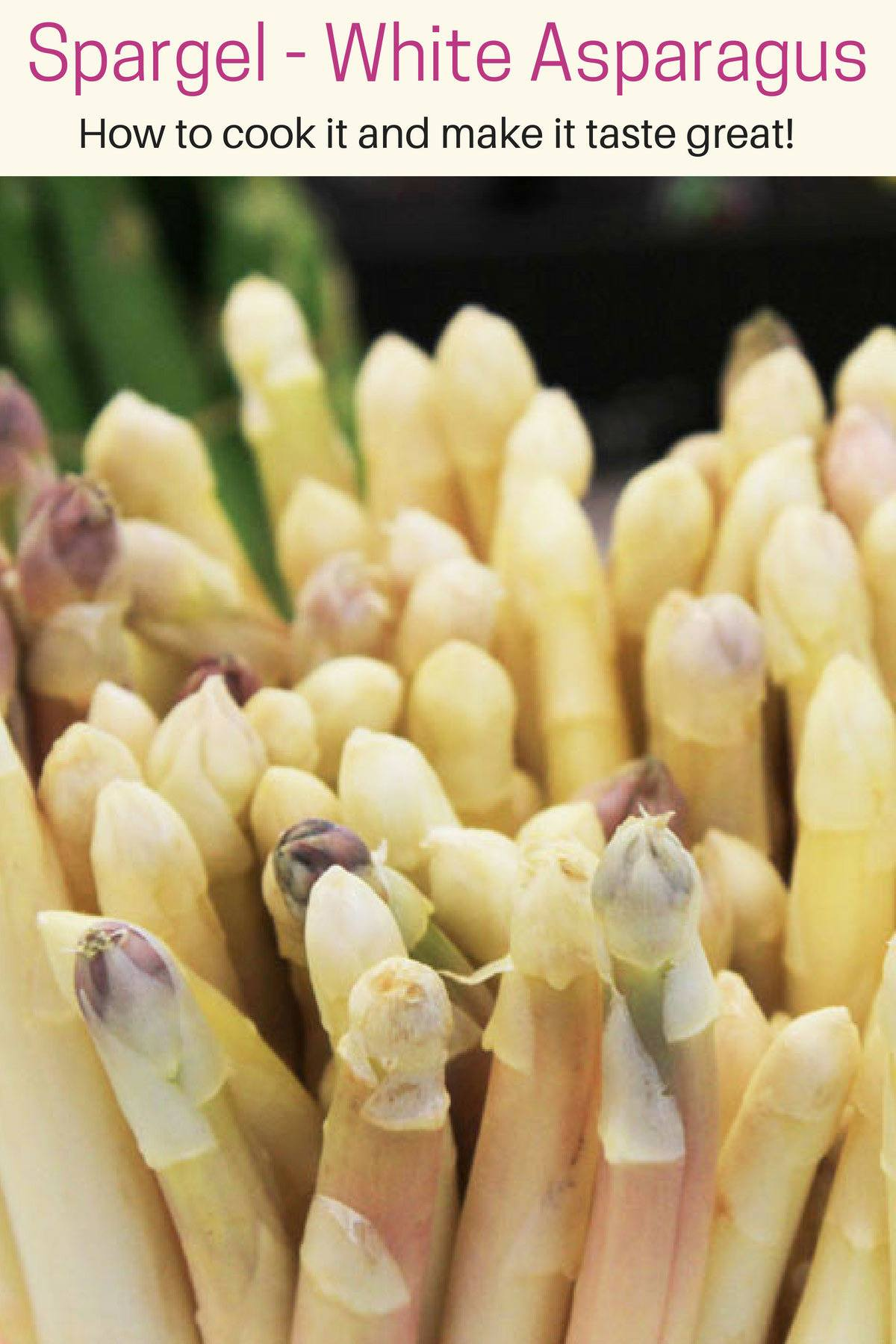 A German vegetable to beat all others! Spargel or white asparagus...yum!