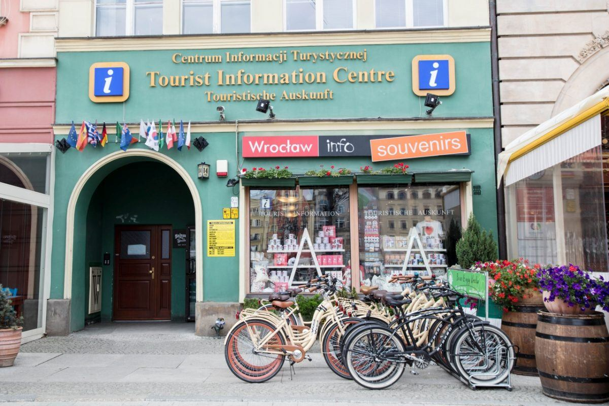 Information Center in Wroclaw is right on the main square in the old town.
