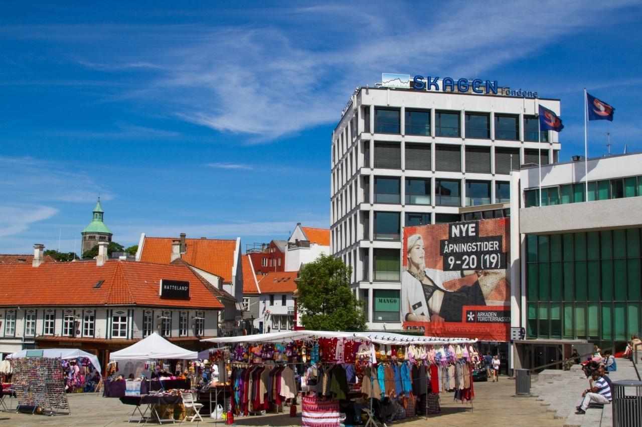 Souvenir stand in downtown Stavanger