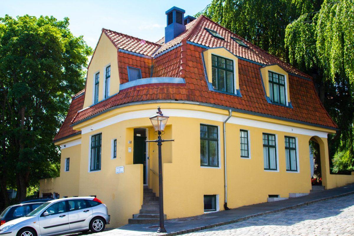 Yellow house in Stavanger, Norway