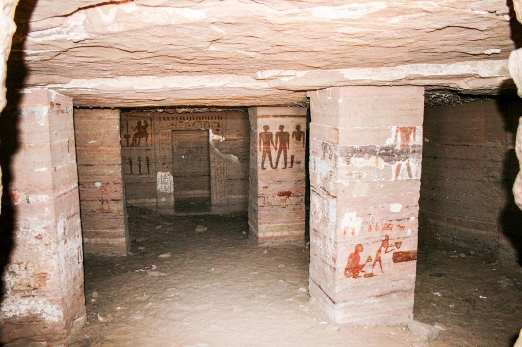 Underground in the Valley of the Kings - King Tut's Tomb.