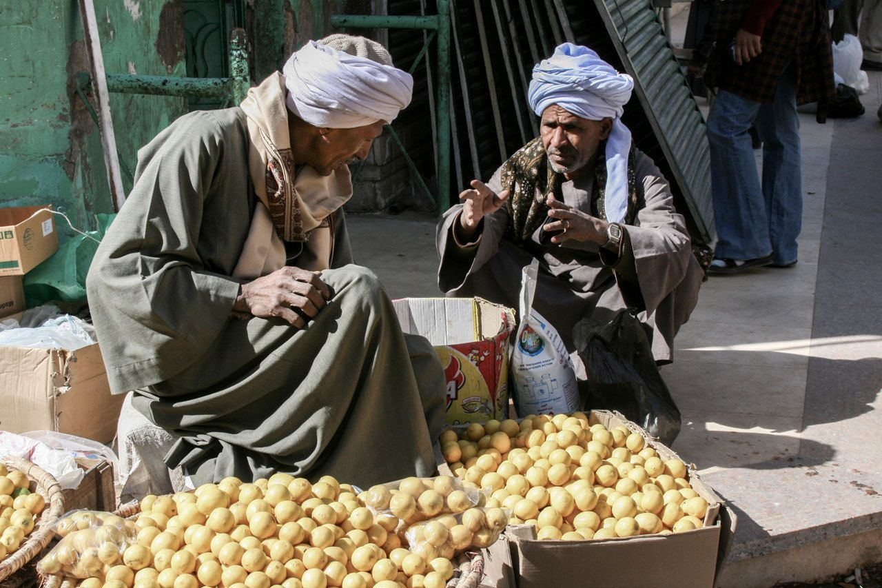Lemon sellers at the souk.