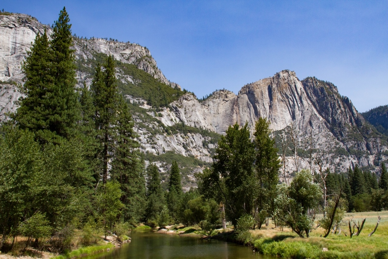 Yosemite falls are dry in late summer