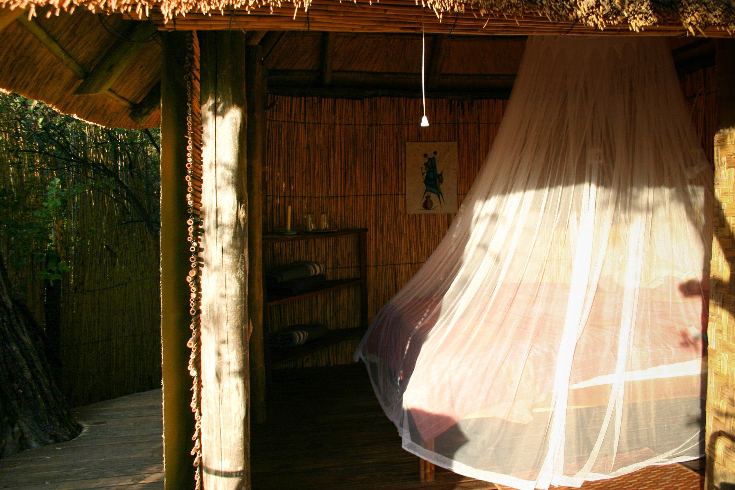 Ngepi Camp Treehouse bedroom