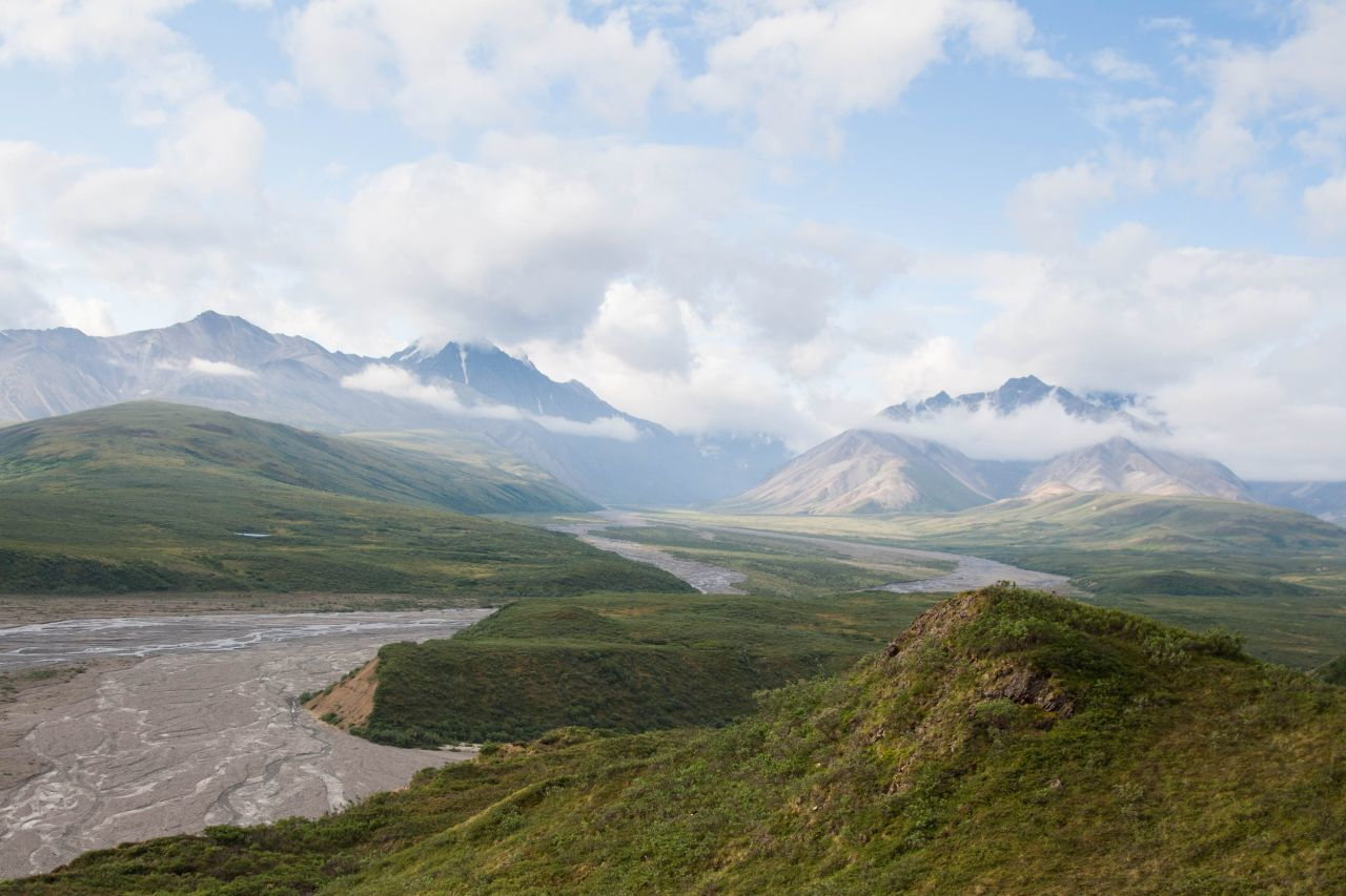 River basin in Denali National Park and Reserve
