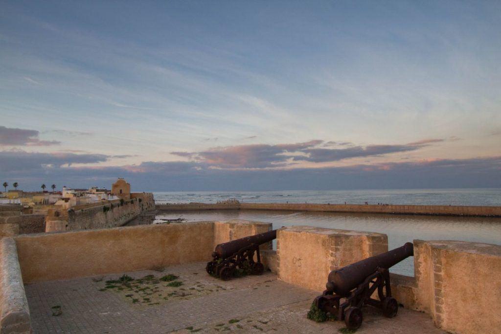 Canons at the Mazagan Fortress, UNESCO World Heritage Site El Jadida.
