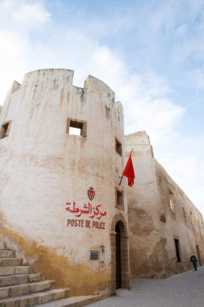 Post De Police in El Jadida, Morocco.