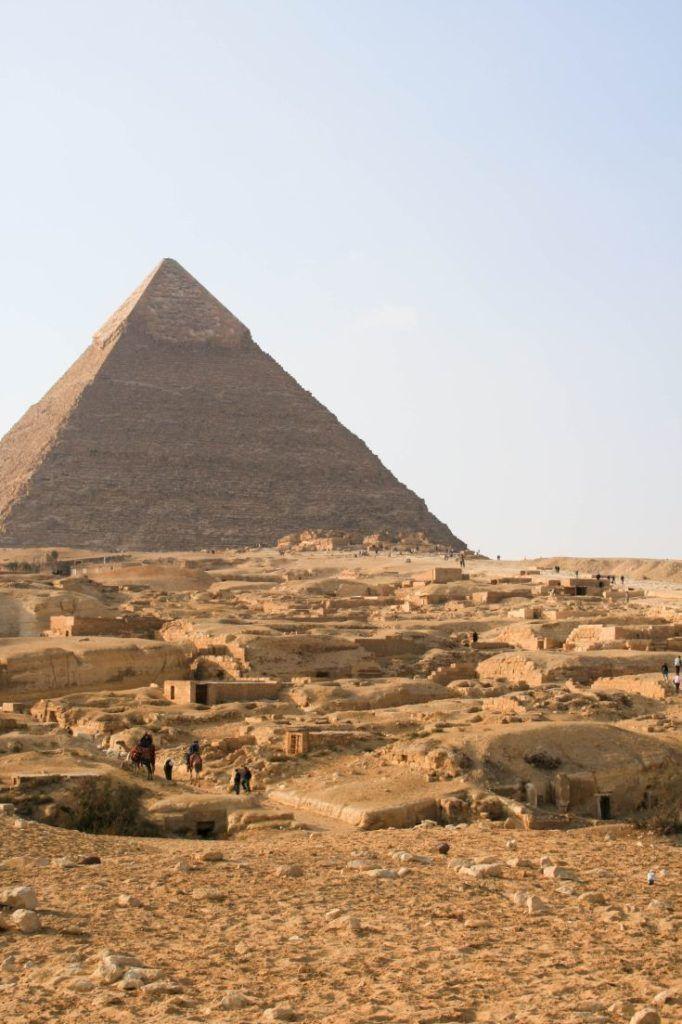 Pyramid of Khafre in Giza Egypt.