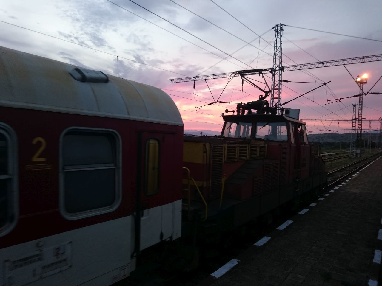 A sunset on the rails