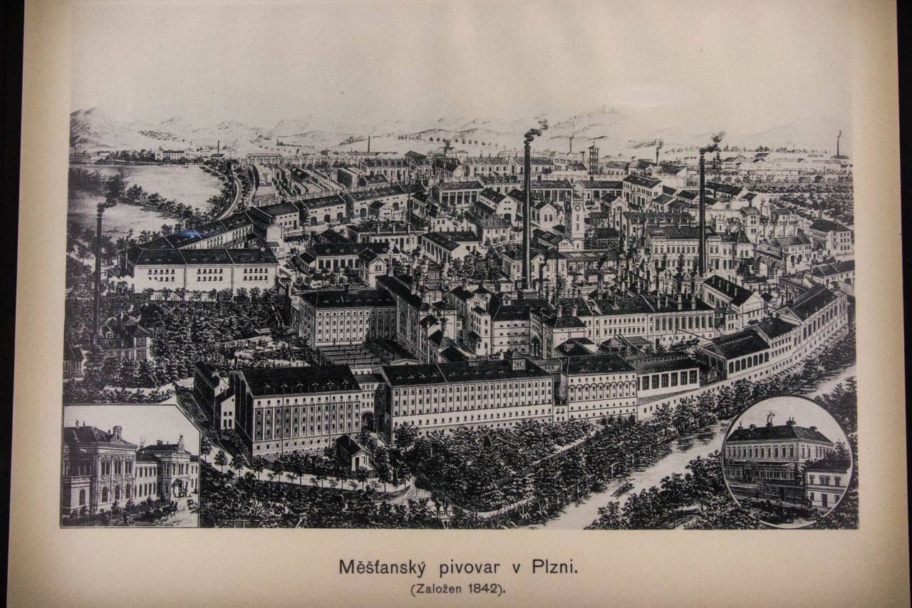 Print of Pilsener Urquell Brewery
