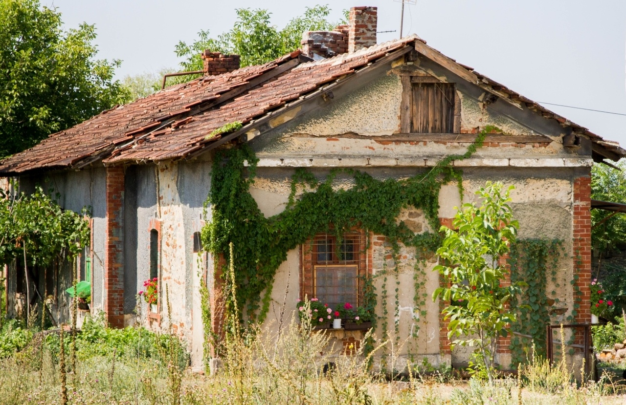 A Serbian house next to the railroad tracks