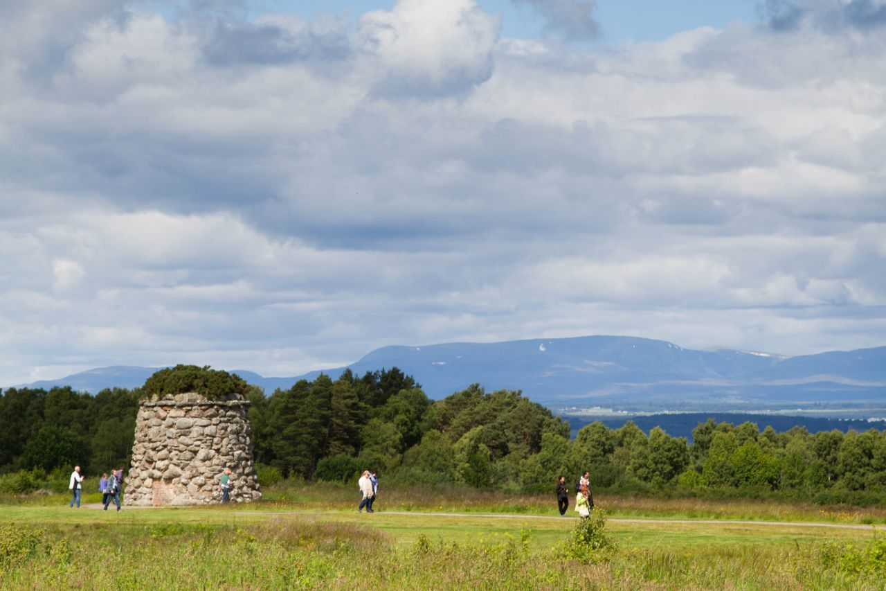People walking on the path Battlefield of Culloden Scotland