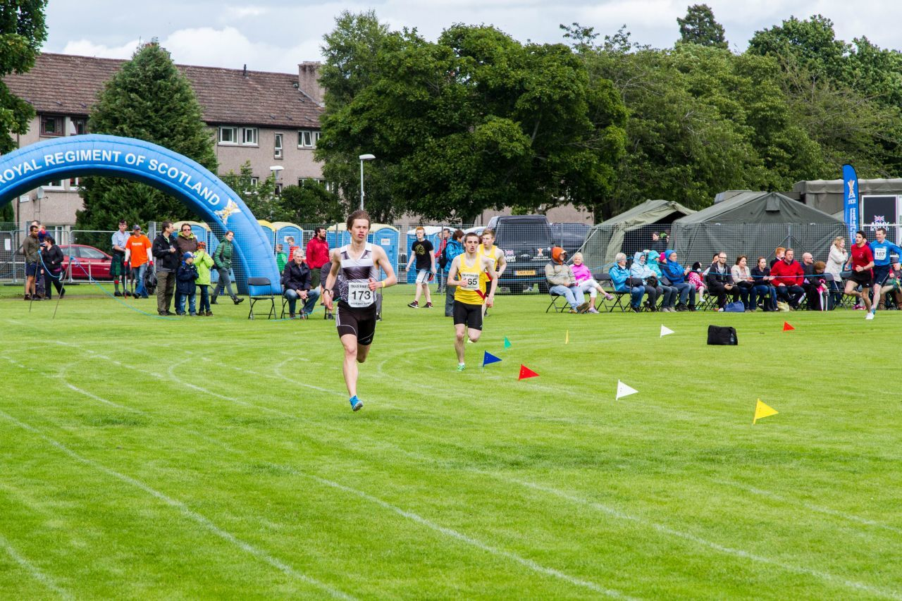 All kinds of events, even foot racing, at the Inverness Highland Games.