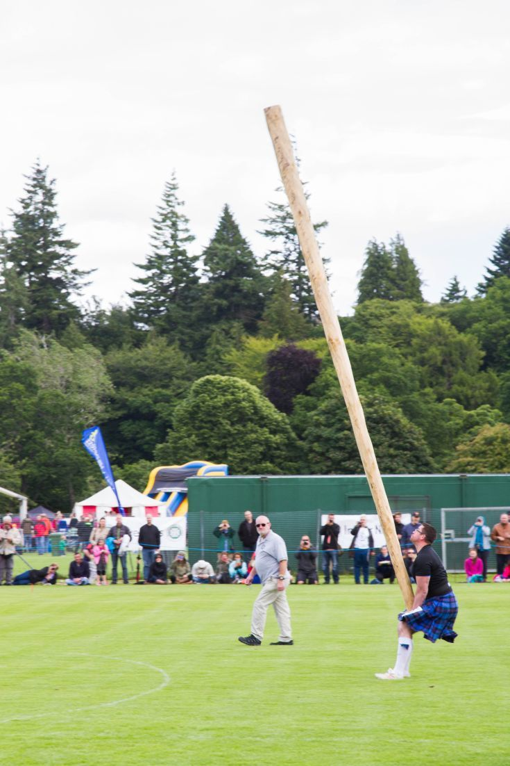 Tossing the caber, one of the traditional events of the Scottish Highland Games