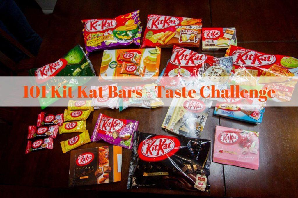 101 Japanese Kit Kat Candy Bars - A Taste Challenge