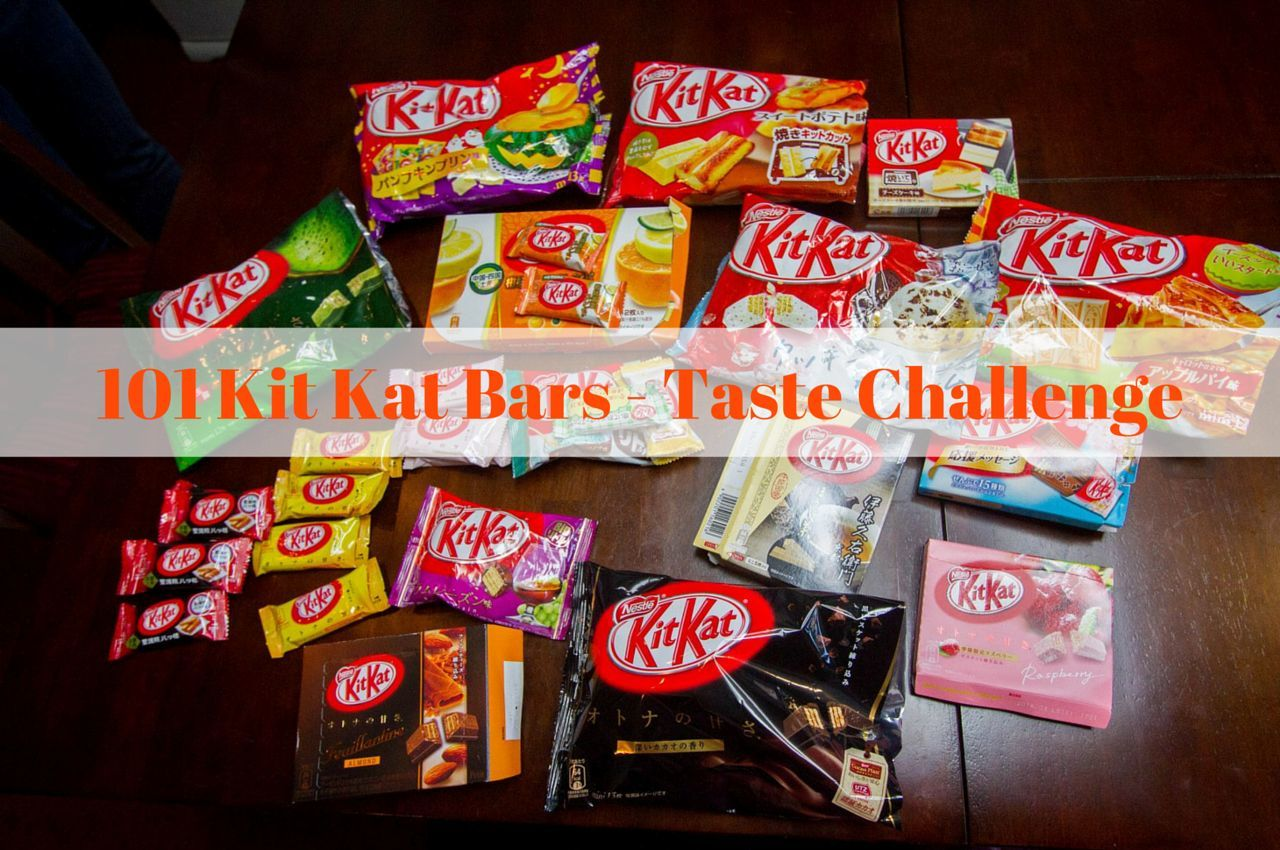 101 Japanese Kit Kat Candy Bars - A Taste Challenge