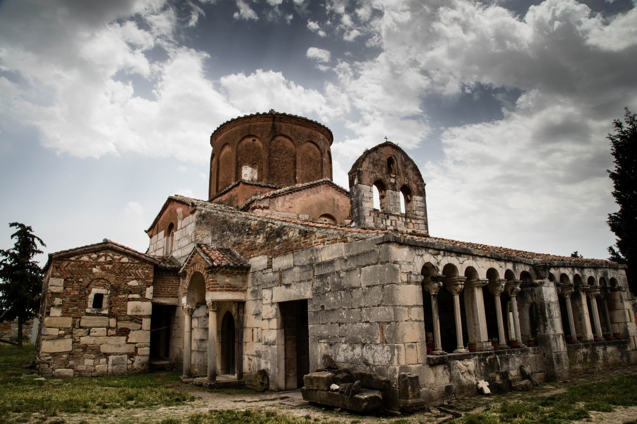 Saint Mary's Church in Apollonia is a mix of east and west both in religious leanings and architecture.