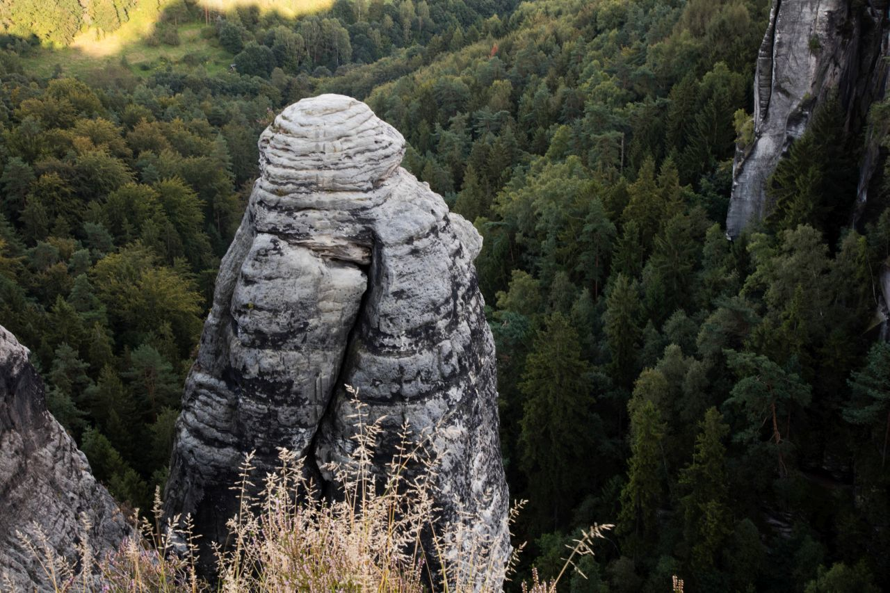 A lone pillar
