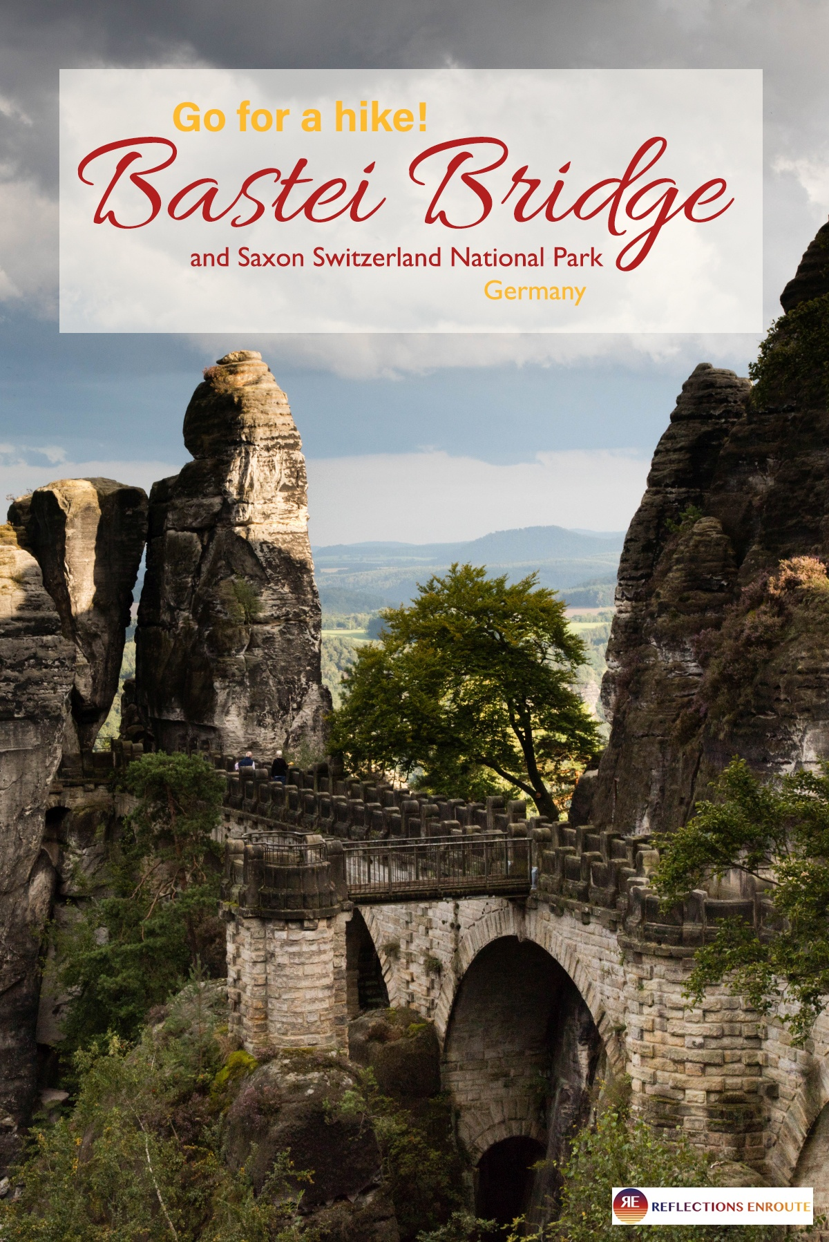 Go hiking in this beautiful place! The Bastei Bridge and its surrounding national park.