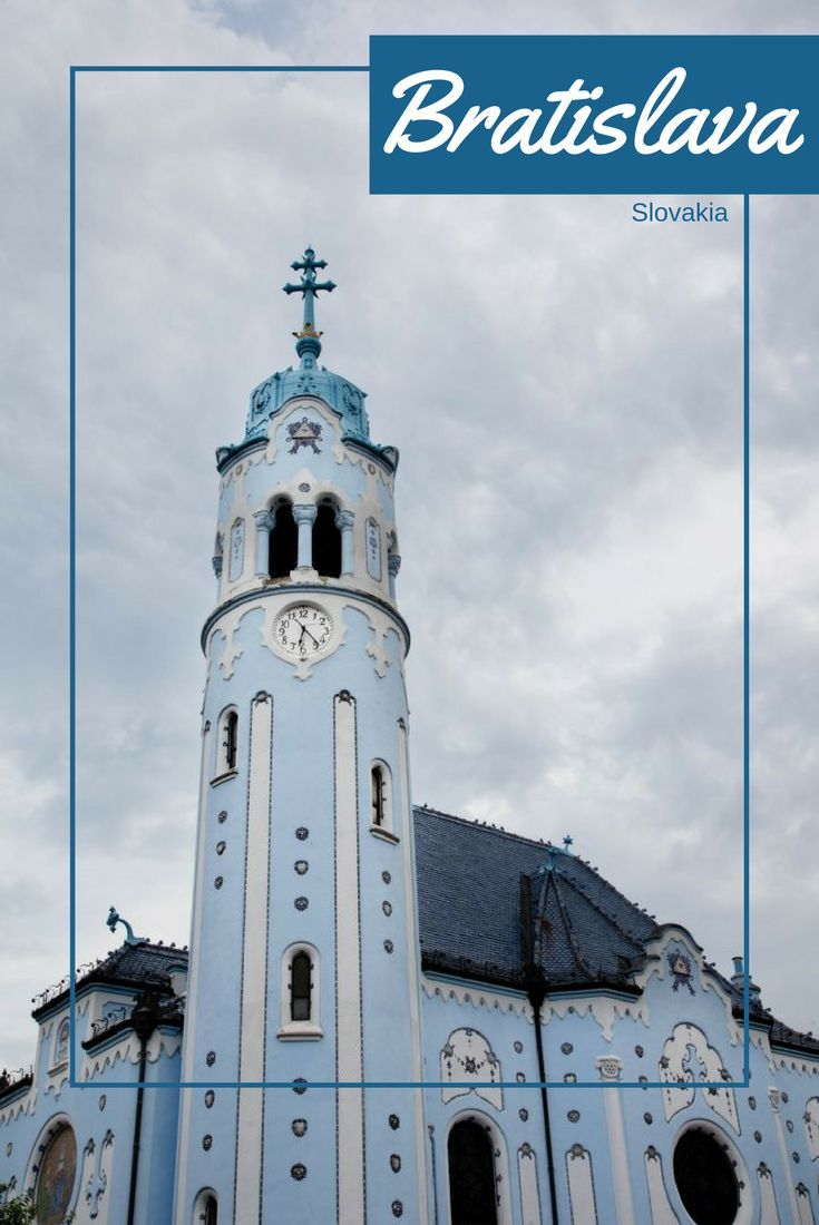 The Blue Church, beautiful and iconic, but not the only thing to see in Bratislava. Click here to see what you can do!