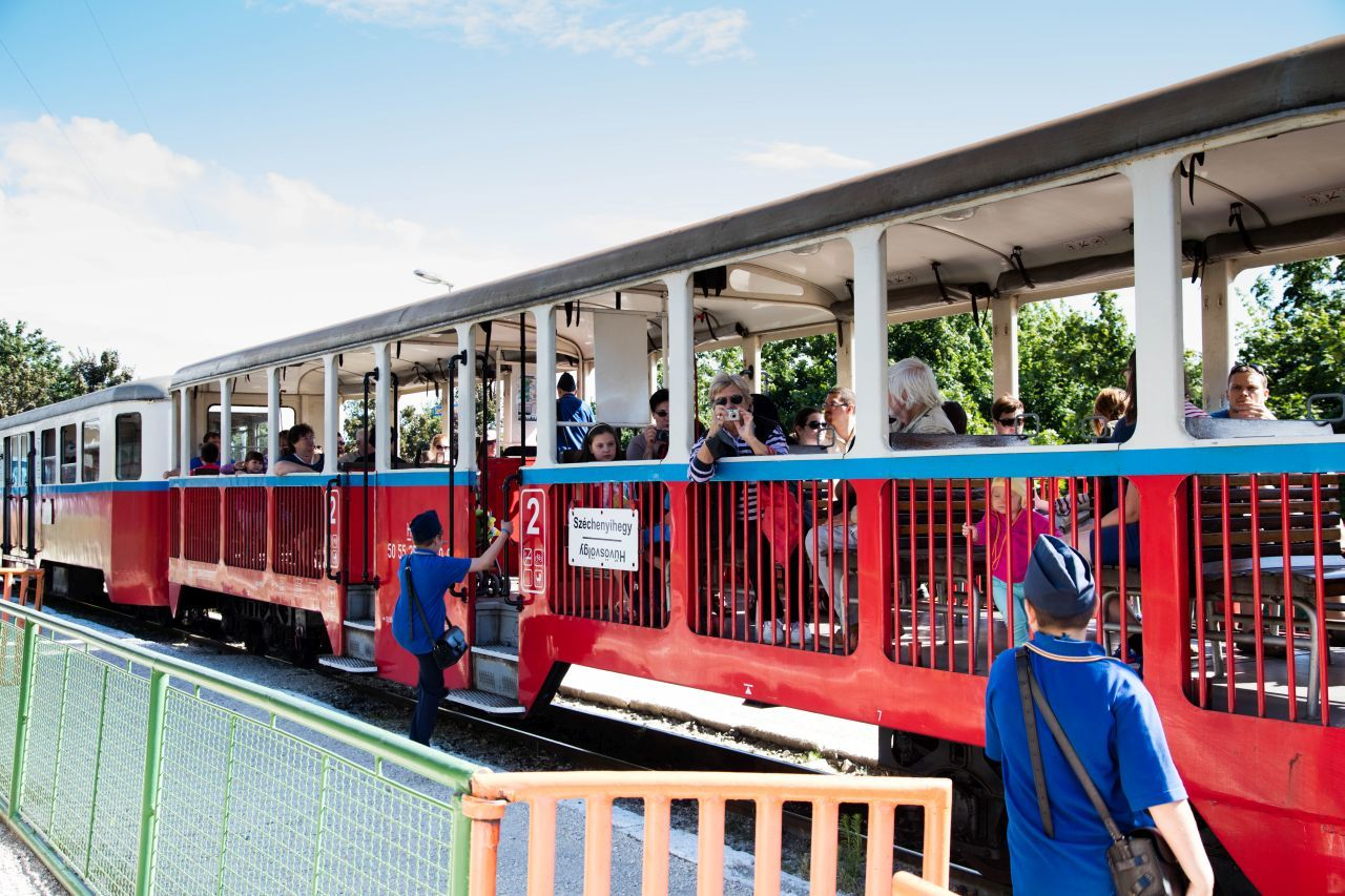 Taking a Ride on the Children's Railway in Budapest
