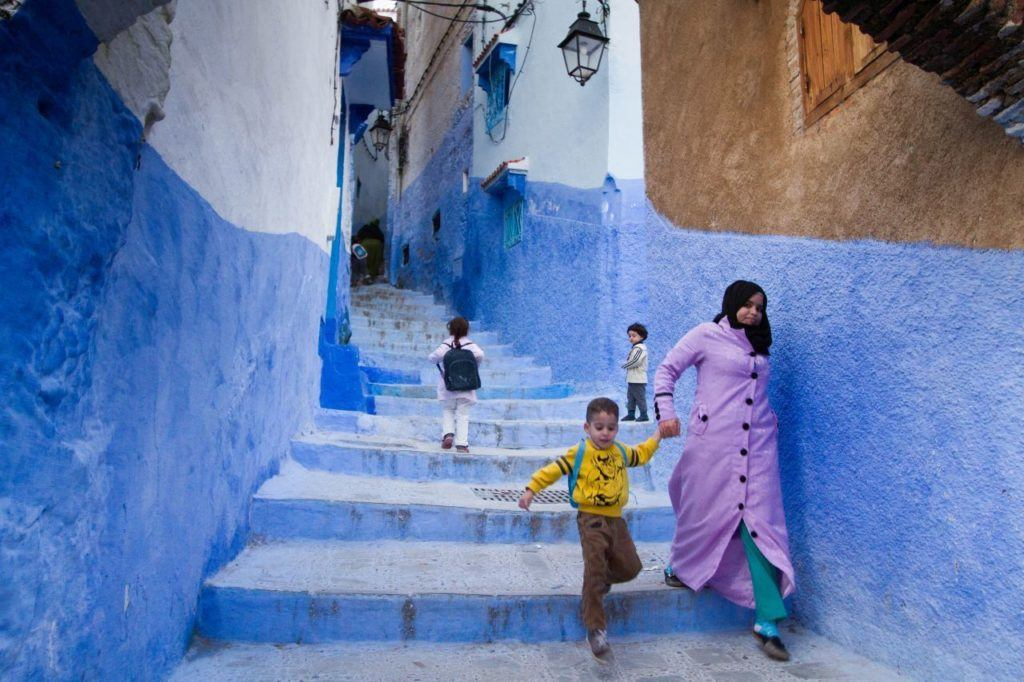 We loved seeing the kids go home from school on our one day in Chefchaouen.