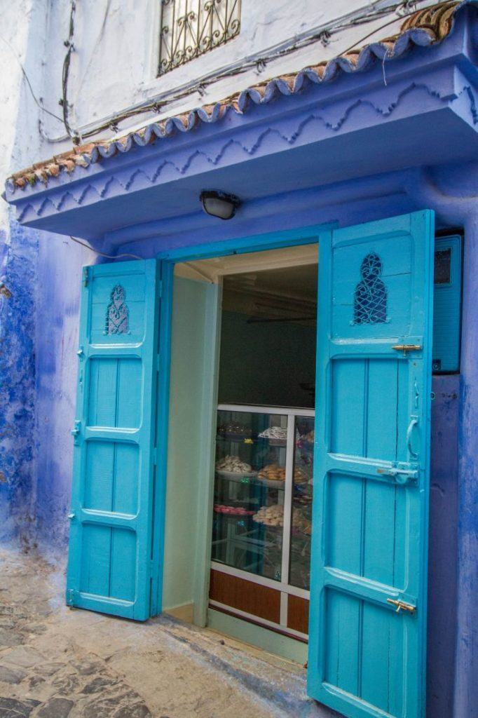 Why is Chefchaouen blue? Or why is it so many different blues. There are at least three blues on these doors.