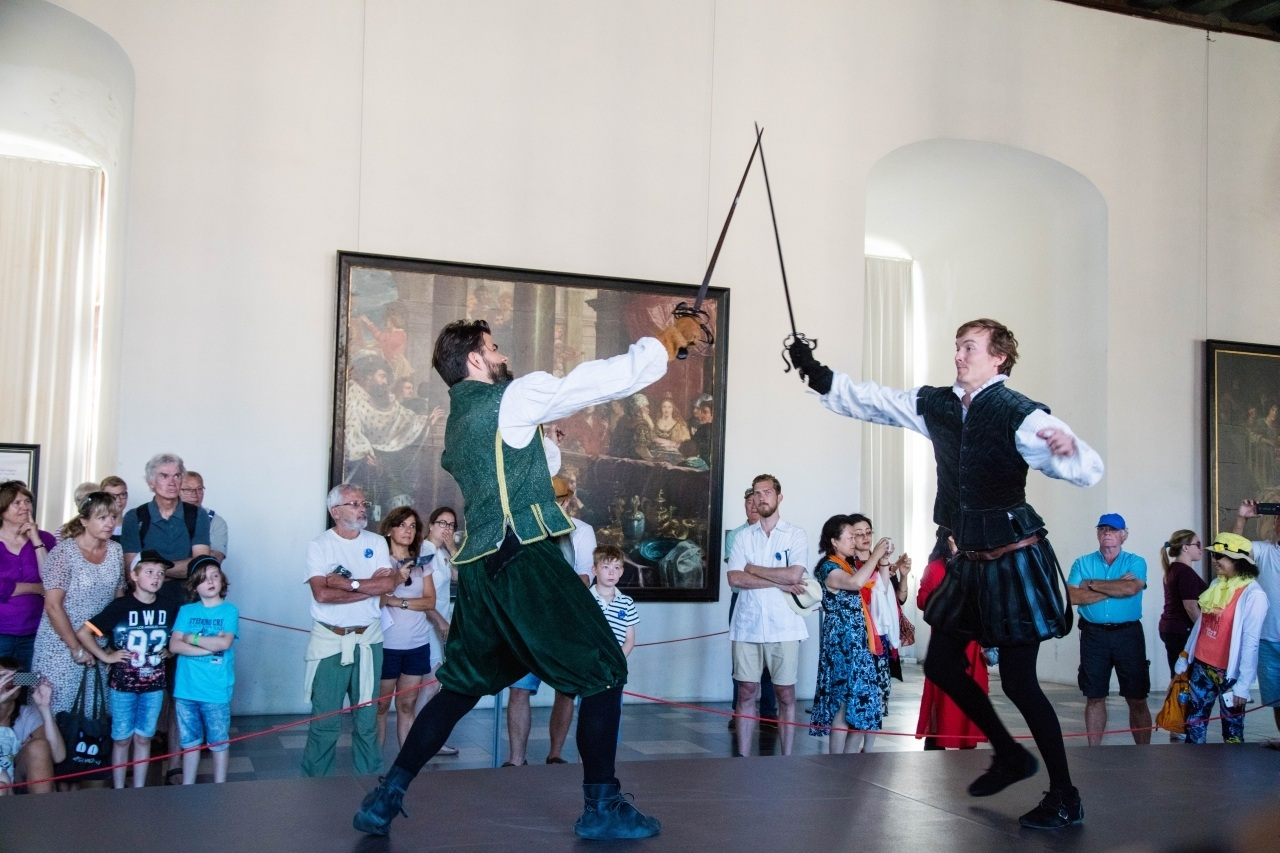 Chasing Hamlet Through Helsingor Castle - a reenactment of the Shakespeare play