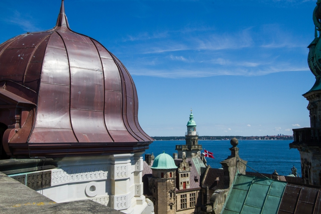 The view of the harbor from Hamlet's Helsingor Castle (Castle Kronborg)