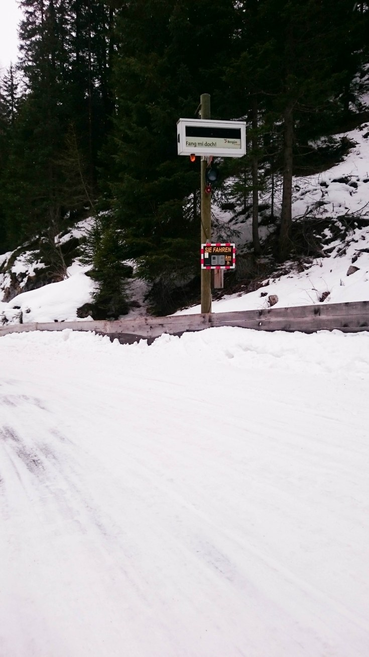 Sledding the Preda-Bergün run.