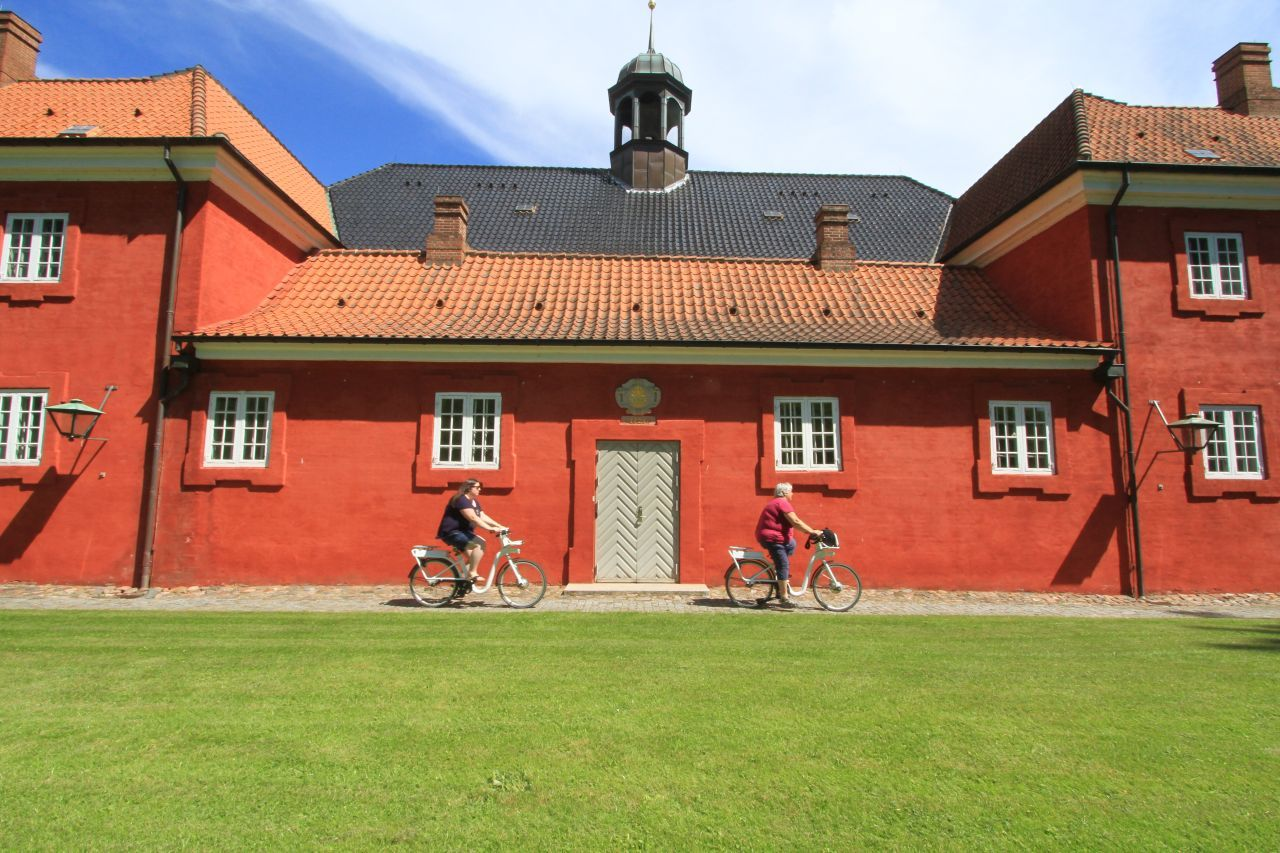 Riding bikes around the city and especially the Kastellet is one of the more unusual things to do in Copenhagen