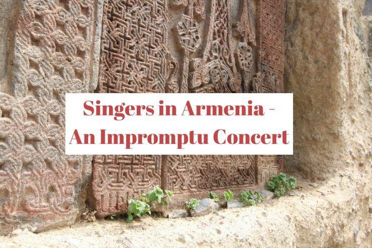 Impromptu choir concert geghard Monastery Armenia