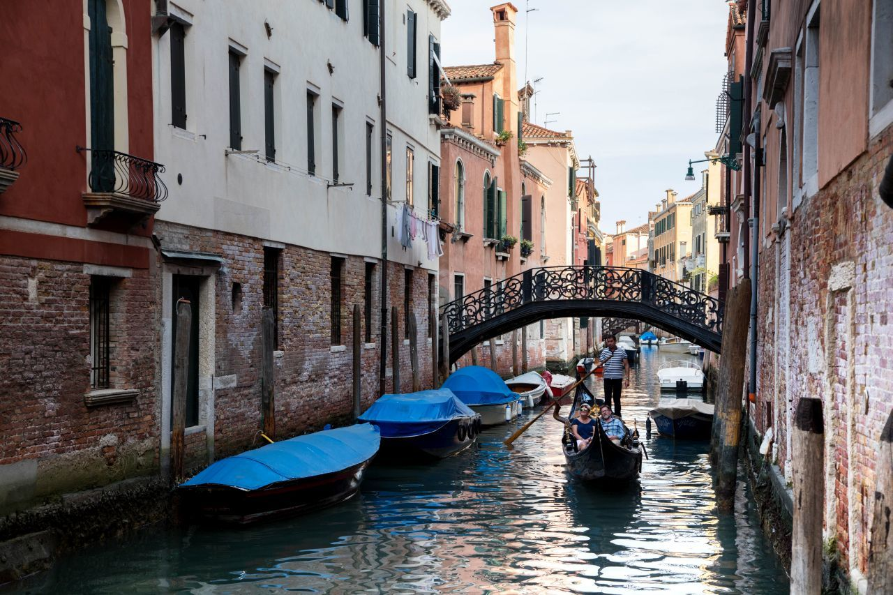 Venice Gondola in a picturesque canal