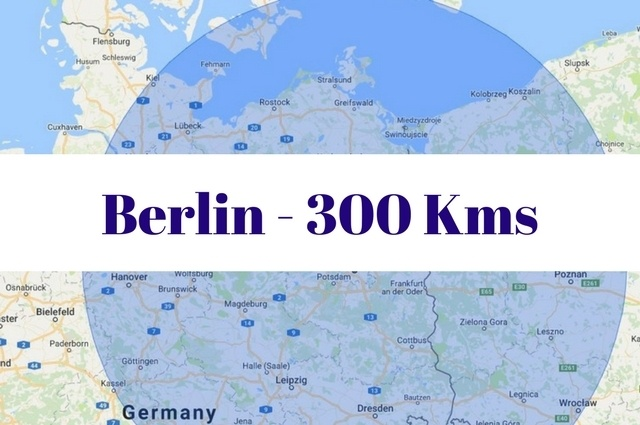 What to see and do within 300 kilometers of Berlin, Germany.