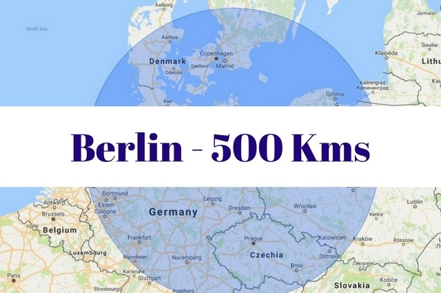 What to see and do within 500 kilometers of Berlin, Germany.