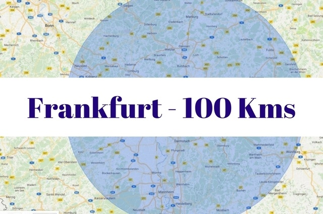 What to see and do within 100 kilometers of Frankfurt, Germany.