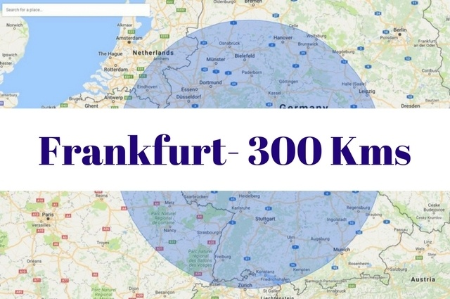 What to see and do within 300 kilometers of Frankfurt, Germany.