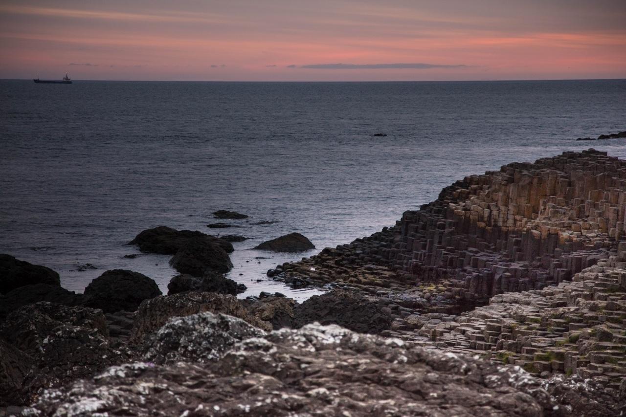Hexagonal stones line the Antrim Coast - The Giant's Causeway