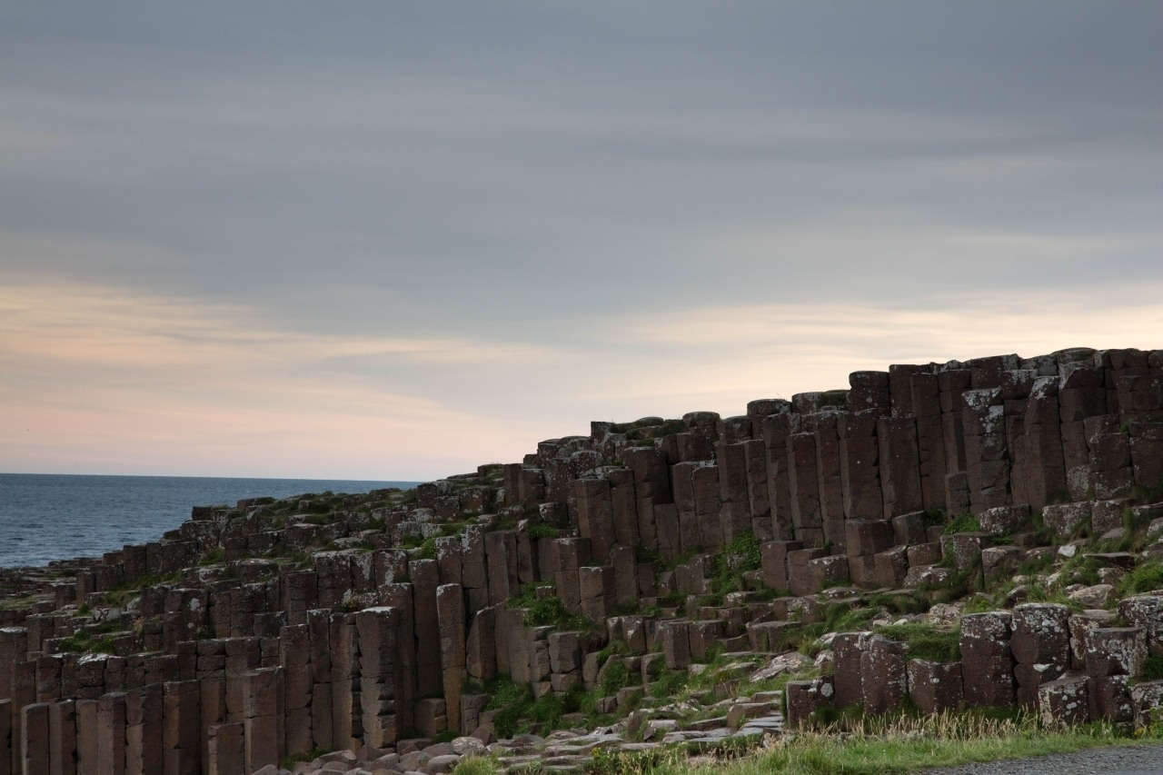 Hexagonal Lava Basalt Stones and the Giant's Causeway