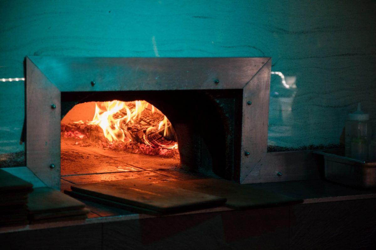 The Flammkuechen oven.