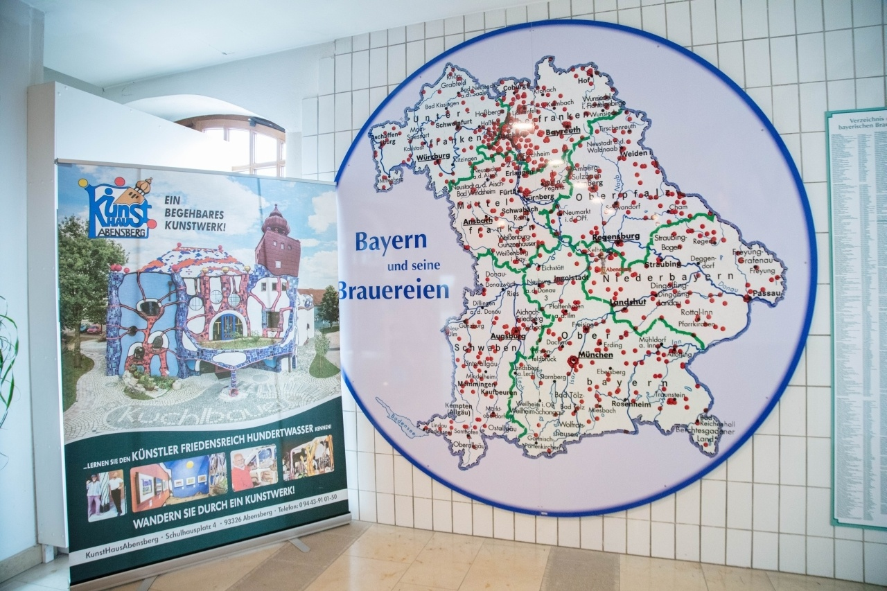A map showing all the breweries in Bavaria