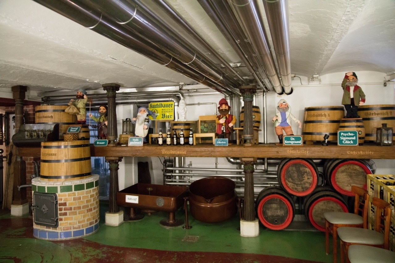Dwarves and beer barrels are part of the brewery tour