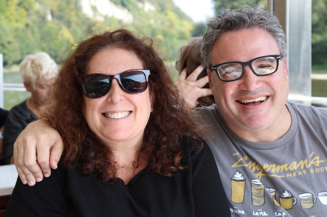 Mindi and Daryl with big smiles in Germany