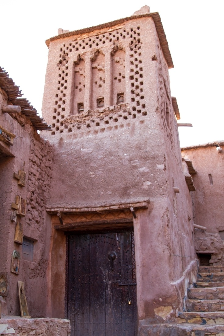A crenelated tower in Ait Benhaddou